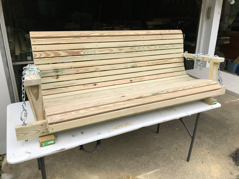Treated Wood Swings – Davis Porch Swings For 5 Ft Cedar Swings With Springs (View 11 of 20)