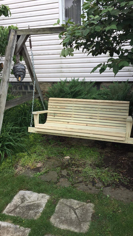 Treated Wood Swings – Davis Porch Swings Inside 5 Ft Cedar Swings With Springs (View 10 of 20)