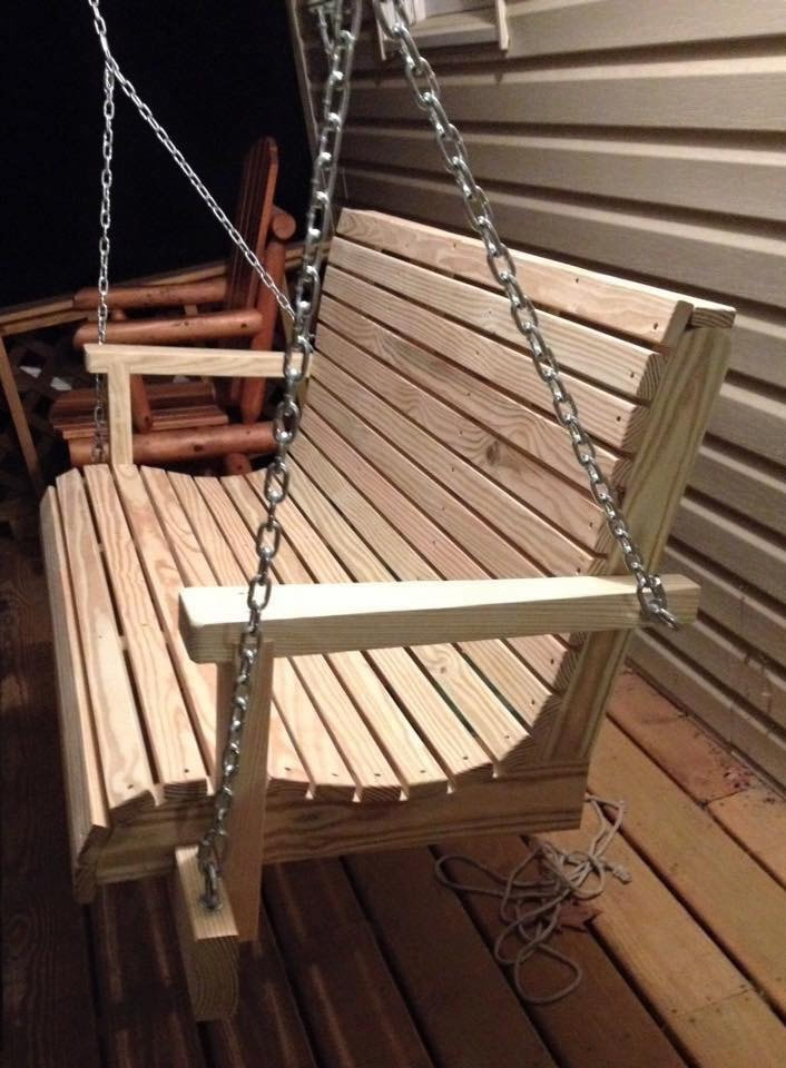Treated Wood Swings – Davis Porch Swings Throughout 5 Ft Cedar Swings With Springs (View 17 of 20)