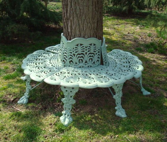 Tree Surround, Antique Cast Iron, Anthemion Design, C (View 20 of 20)
