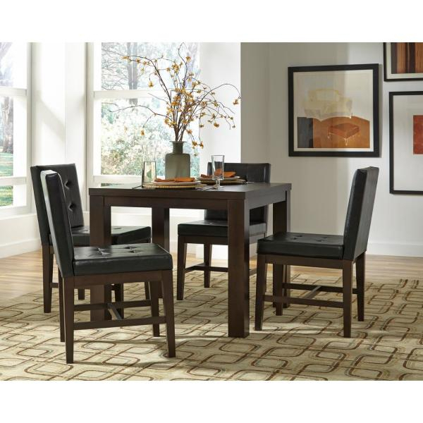 Trendy Athena Dark Chocolate Square Dining Table Regarding Atwood Transitional Square Dining Tables (View 20 of 21)