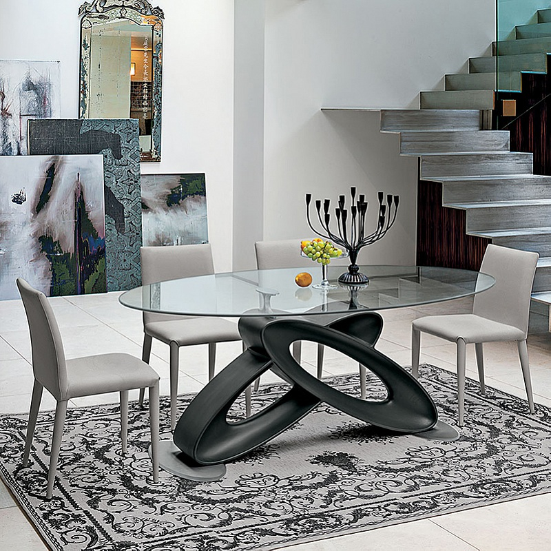 Trendy Eclipse Dining Tables For Eclipse Glass Top Fixed Dining Tabletarget Point (#19 of 20)