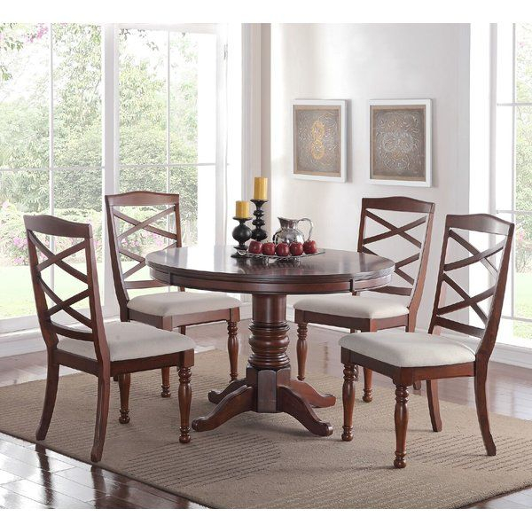 Trendy Espresso Finish Wood Classic Design Dining Tables With Regard To 5 Piece Dining Set In  (#19 of 20)