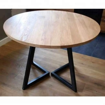 Trendy Iron Wood Dining Tables With Metal Legs Throughout Industrial & Vintage Iron Metal & Solid Wood Round Folding Dining Table – Buy Exotic Wood Dining Tables,metal Leg Dining Wood Table,84 Round Dining (View 11 of 20)