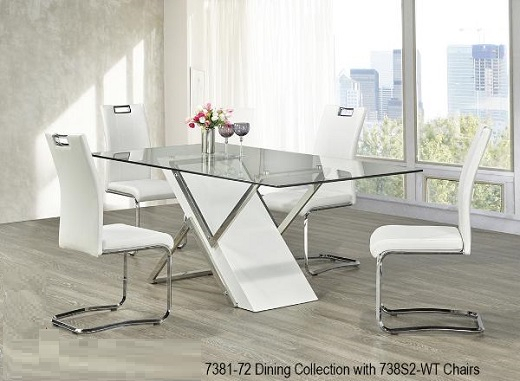 Trendy Modern Dining Room Furniture, Glass Dining Tables, Bar For Glass Top Condo Dining Tables (#19 of 20)
