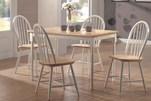 Trendy Walnut And Antique White Finish Contemporary Country Dining Tables Pertaining To How To Buy A Dining Or Kitchen Table And Ones We Like For (#14 of 20)