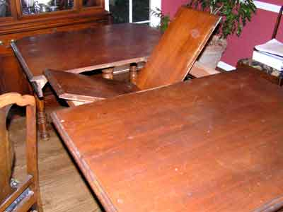 Trendy Wood Kitchen Dining Tables With Removable Center Leaf Inside Discover Vintage America (View 15 of 20)