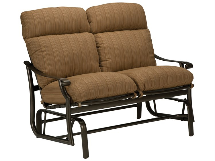 Tropitone Montreux Cushion Aluminum Glider Loveseat With Regard To Aluminum Glider Benches With Cushion (View 15 of 20)