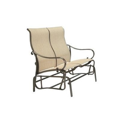 Tropitone Radiance Sling Double Glider Chair Fabric Regarding Padded Sling Double Gliders (#14 of 20)