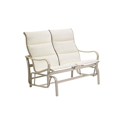 Tropitone Shoreline Padded Sling Double Glider Bench Finish With Padded Sling Double Glider Benches (View 2 of 20)