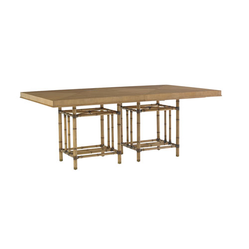 Twin Palms Brown Caneel Bay Dining Table With Regard To Well Known Alamo Transitional 4 Seating Double Drop Leaf Round Casual Dining Tables (#19 of 20)