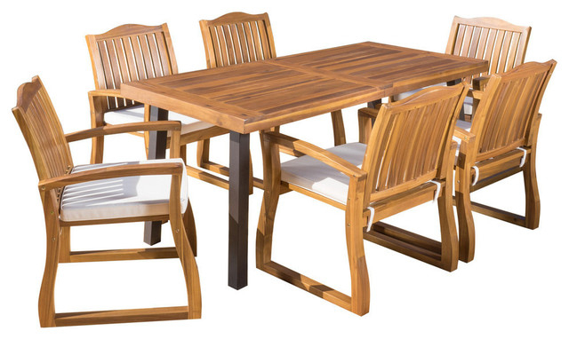Unique Acacia Wood Dining Tables Inside Trendy Gdf Studio Spanish Bay Teak Finish Acacia Wood Dining Table (View 20 of 20)