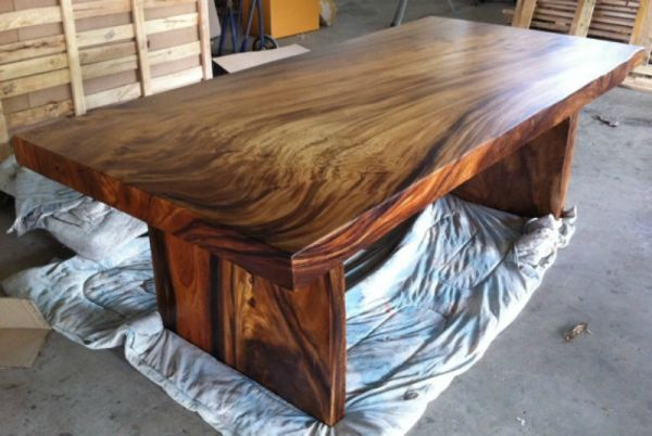 Unique Acacia Wood Dining Tables With Most Recent This Very Unique Table Was Constructed From A Single Slab Of (View 5 of 20)