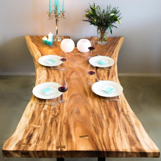 Unique Acacia Wood Dining Tables With Regard To Current Wooden Dining Table,suar Wood,tabaca Wood,acacia Wood – Buy Natural Dining Table,treetrunk Table,unique Wooden Table Product On Alibaba (View 4 of 20)