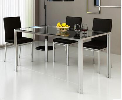 [%us $102.0 15% Off|steel Glass Dining Table And Chair Combination. Stainless Steel Table In Dining Room Sets From Furniture On Aliexpress Intended For Current Steel And Glass Rectangle Dining Tables|steel And Glass Rectangle Dining Tables Within 2020 Us $102.0 15% Off|steel Glass Dining Table And Chair Combination. Stainless Steel Table In Dining Room Sets From Furniture On Aliexpress|2019 Steel And Glass Rectangle Dining Tables Throughout Us $102.0 15% Off|steel Glass Dining Table And Chair Combination. Stainless Steel Table In Dining Room Sets From Furniture On Aliexpress|preferred Us $102.0 15% Off|steel Glass Dining Table And Chair Combination (View 16 of 20)