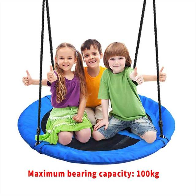 Inspiration about Us $109.49 49% Off|Outdoor Garden Seat Swing Giant Padded Fabric Crows Nest  Rope Swing Kids Hanging Seat Toys Height Adjustable Ropes Swing Chair On For Nest Swings With Adjustable Ropes (#9 of 20)