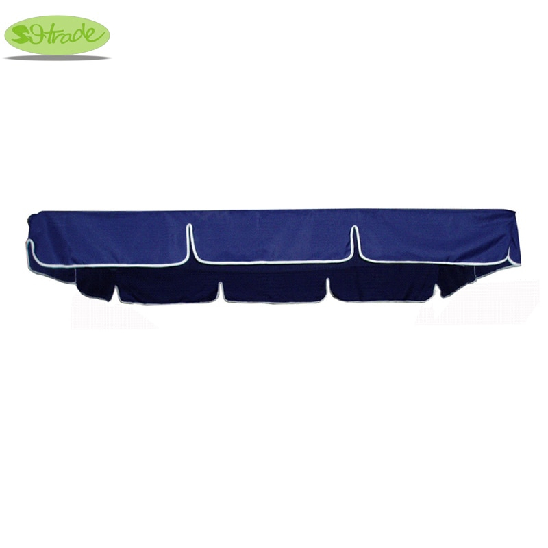 Inspiration about Us $34.78 6% Off|Canopy For 3 Seater Porch Swing Chair And Bed,navy Blue  Polyester Canopy,water Proofed Canopy In Shade Sails & Nets From Home & Throughout 3 Seater Swings With Frame And Canopy (#19 of 20)