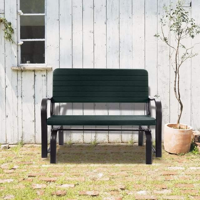 Inspiration about Us $99.99  Outdoor Patio Swing Porch Rocker Glider Bench Loveseat Garden  Seat Steel Op2970 On Aliexpress In Outdoor Patio Swing Glider Benches (#14 of 20)
