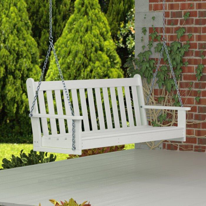 """Vineyard 60"""" Swing Regarding Vineyard 2 Person Black Recycled Plastic Outdoor Swings (View 12 of 20)"""