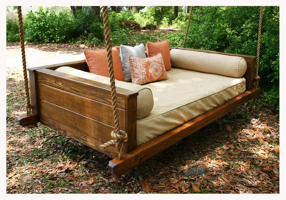 Vintage Porch Swings – Make From The Kiddo's Old Twin Bed Pertaining To Country Style Hanging Daybed Swings (View 10 of 20)