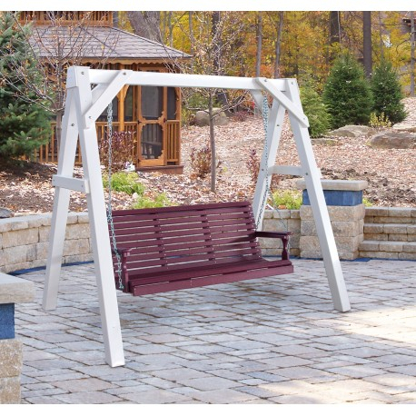 Vinyl A Frame Swing Stand Throughout Lamp Outdoor Porch Swings (View 17 of 20)