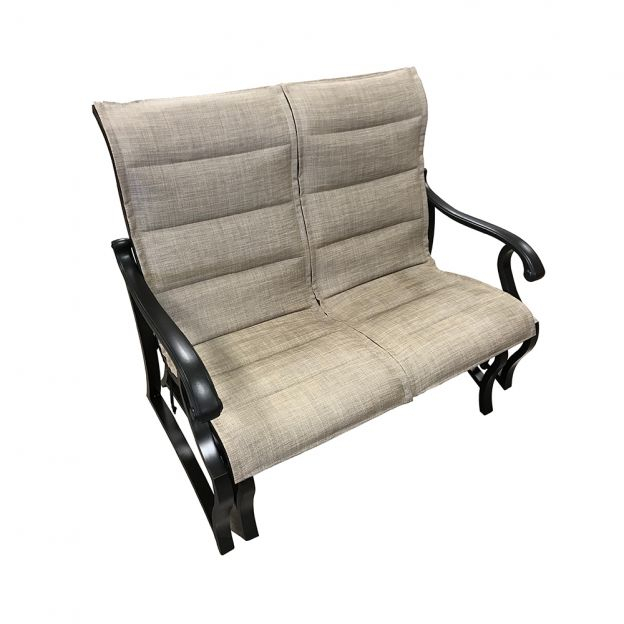 Volare Padded Sling Double Glider In Padded Sling Double Glider Benches (View 7 of 20)