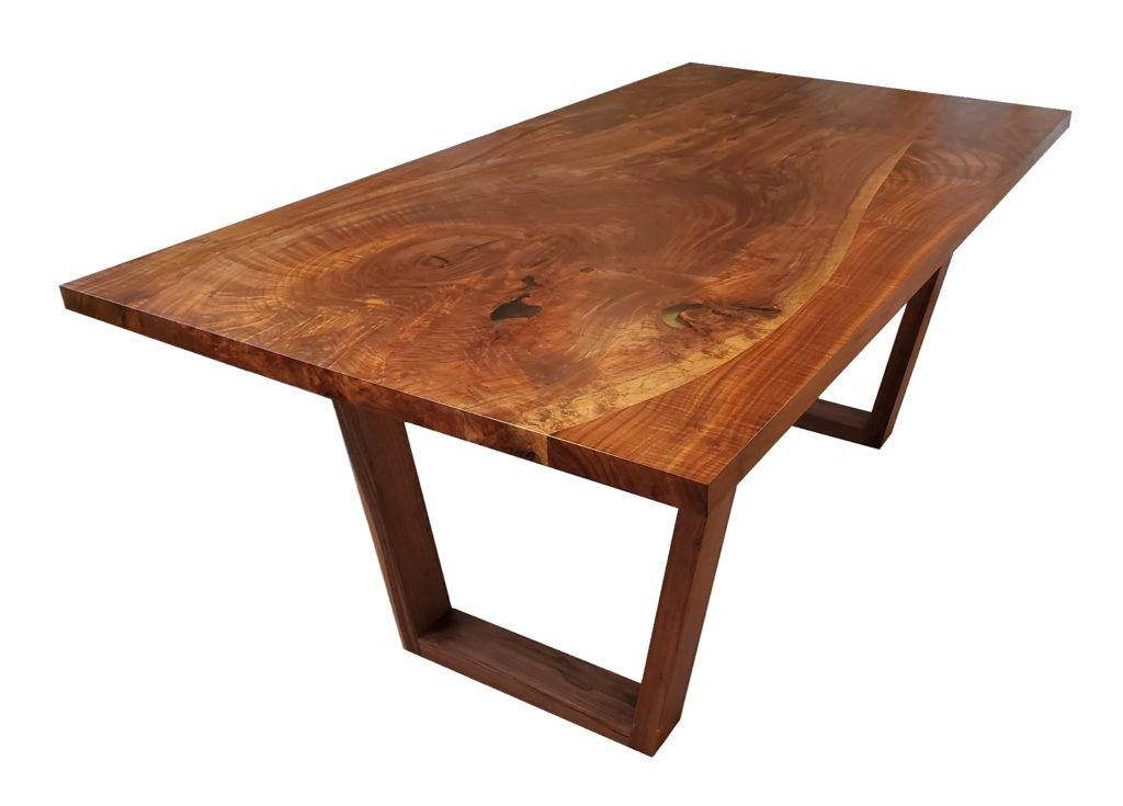 Walnut Finish Live Edge Wood Contemporary Dining Tables Intended For Fashionable Winsome Solid Natural Wood Dining Table Black Walnut (#13 of 20)
