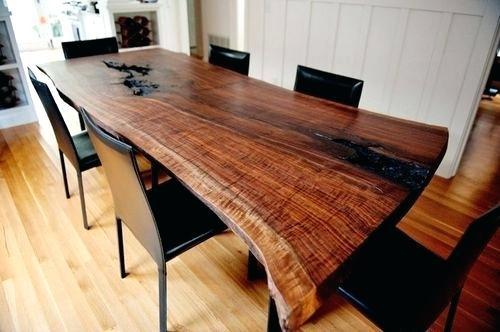 Walnut Finish Live Edge Wood Contemporary Dining Tables With Newest Live Edge Walnut Table – Jameshome (#16 of 20)