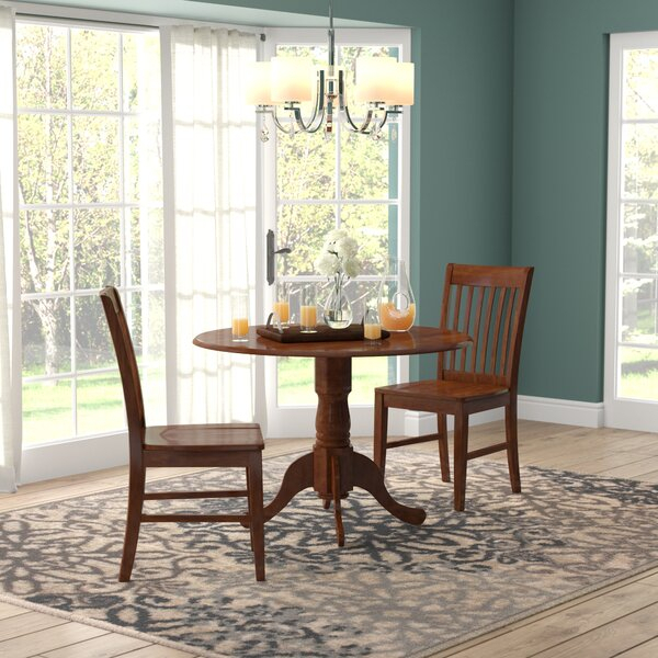 Wayfair Pertaining To Recent Transitional 3 Piece Drop Leaf Casual Dining Tables Set (View 14 of 20)