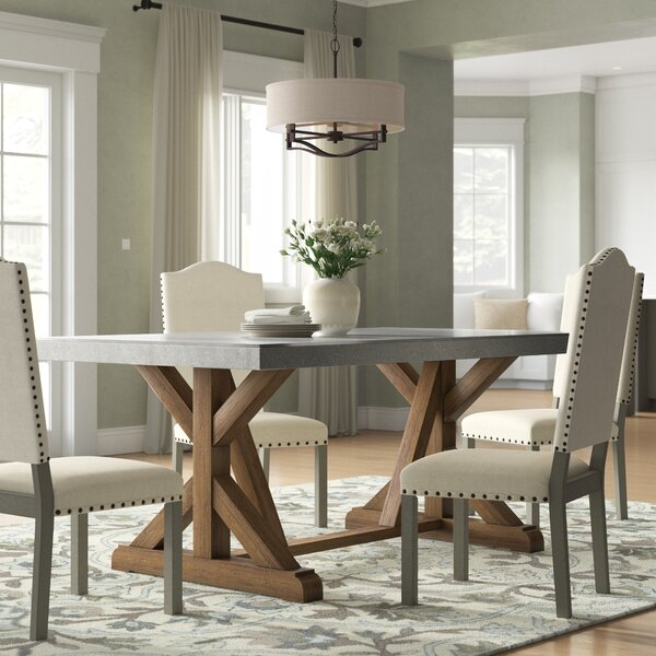 Wayfair Regarding Distressed Walnut And Black Finish Wood Modern Country Dining Tables (View 7 of 20)