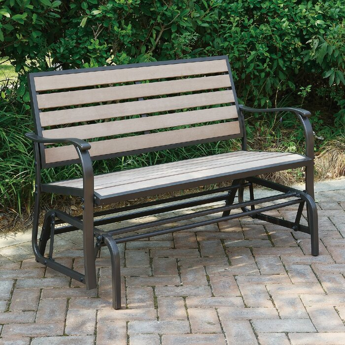 Wayzata Outdoor Glider Bench Throughout Iron Grove Slatted Glider Benches (View 20 of 20)