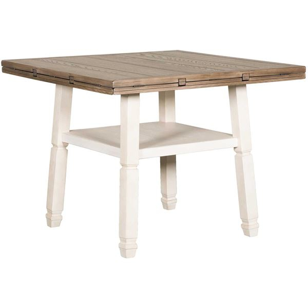 Well Known Bolanburg Drop Leaf Counter Table In Transitional 4 Seating Drop Leaf Casual Dining Tables (#20 of 20)