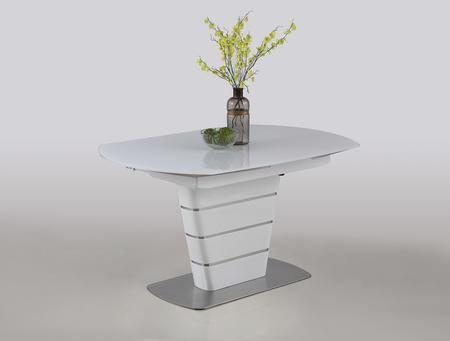 Well Known Chintaly Charlottedt Throughout Modern Glass Top Extension Dining Tables In Stainless (#18 of 20)