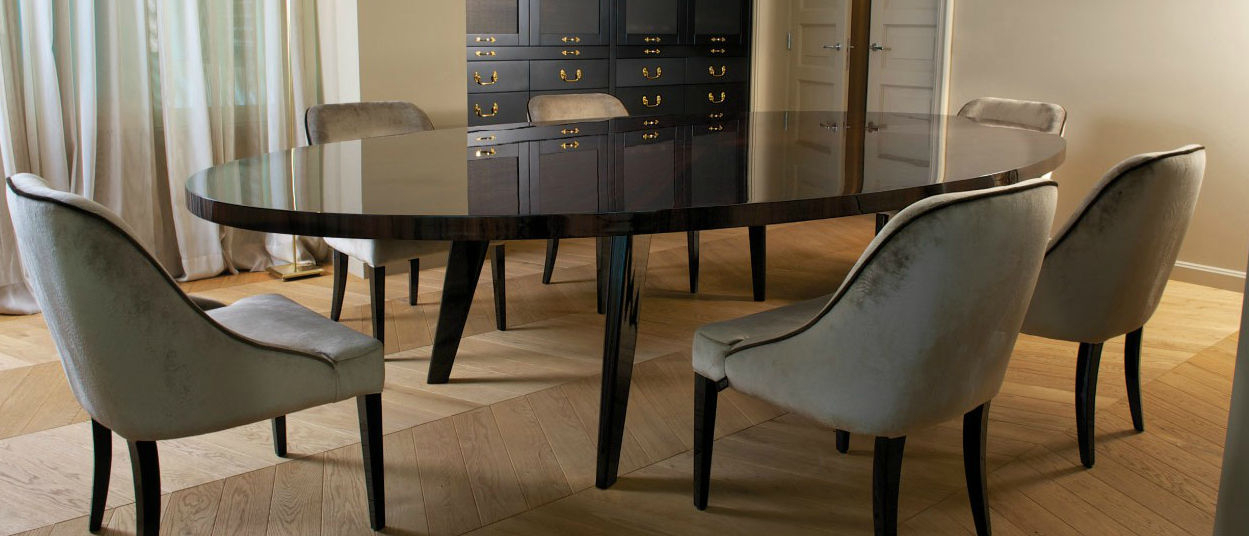 Well Known Contemporary Dining Table / Ebony / Round – Harry Intended For Dom Round Dining Tables (#18 of 20)