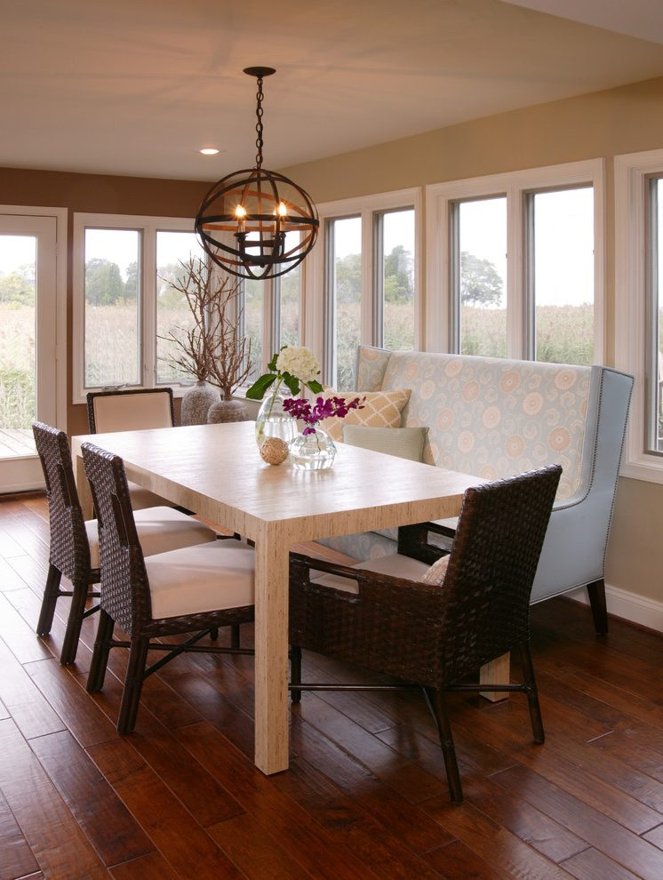 Well Known Dc Metro Wicker Dining Chairs Room Transitional With With Regard To Transitional 6 Seating Casual Dining Tables (View 11 of 20)