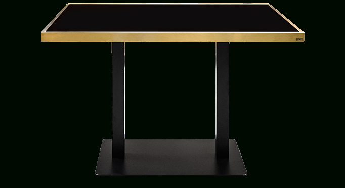 Well Known Dining Tables With Brushed Gold Stainless Finish In Contemporary Design Furniture, Eclectic Collection (#18 of 20)