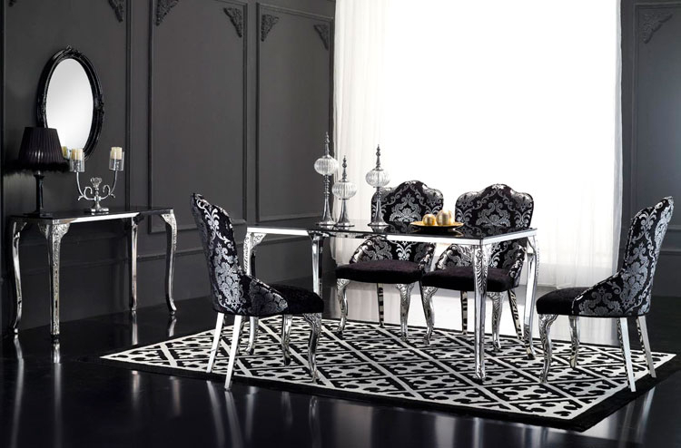 Well Known Dt02 St, China Black Glass Top Retangular Dining Table Intended For Long Dining Tables With Polished Black Stainless Steel Base (#19 of 20)
