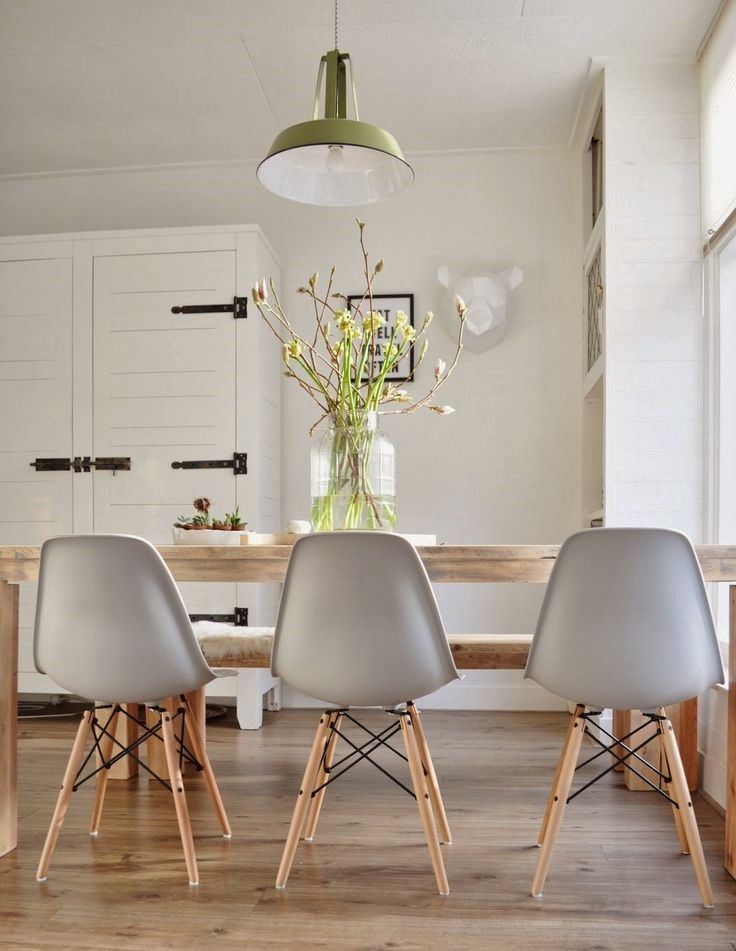 Well Known Eames Molded Plastic Chairs With Dowel Wood Leg Base + Farm With Eames Style Dining Tables With Wooden Legs (#20 of 20)