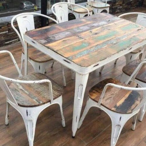 Well Known Iron Wooden Dining Table Set Intended For Iron Wood Dining Tables (#18 of 20)