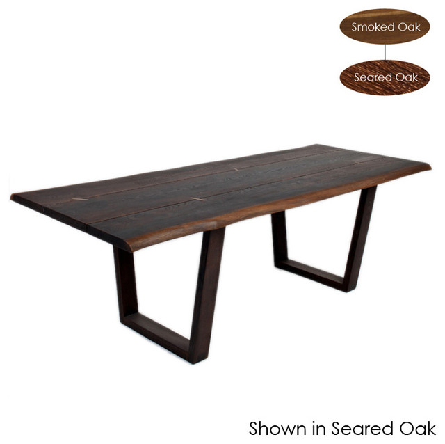 Well Known Kava Dining Table, Seared Oak/small Throughout Dining Tables In Smoked/seared Oak (#20 of 20)