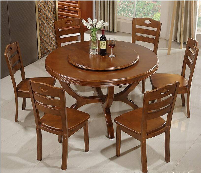 Well Known Solid Wood Circular Dining Tables White Intended For Contemporary Circle Dining Table Inspiring Household Solid (View 7 of 20)