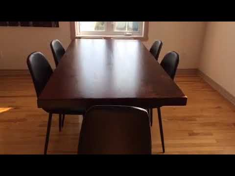 Well Known Straight Cut Acacia Dining Table With Black X Legs/honey Walnut With Regard To Acacia Dining Tables With Black X Leg (View 9 of 20)