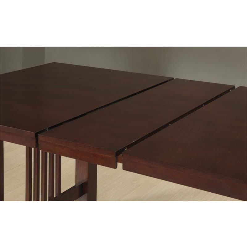 Well Known Wood Kitchen Dining Tables With Removable Center Leaf With Walker Edison Dining Table With Removable Center Leaf (Cappuccino) Tw60Mcno (View 4 of 20)