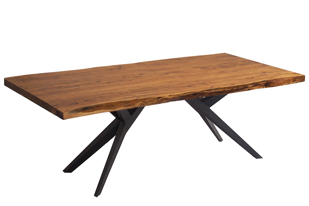 "Well Liked Corcoran Acacia Live Edge Dining Table With Black Victor Legs – 84"" Intended For Acacia Dining Tables With Black Victor Legs (View 20 of 20)"