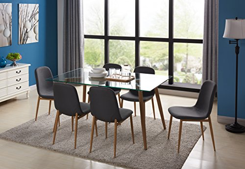 Well Liked Eames Style Dining Tables With Chromed Leg And Tempered Glass Top With Regard To 22 Great Dining Sets (#18 of 20)
