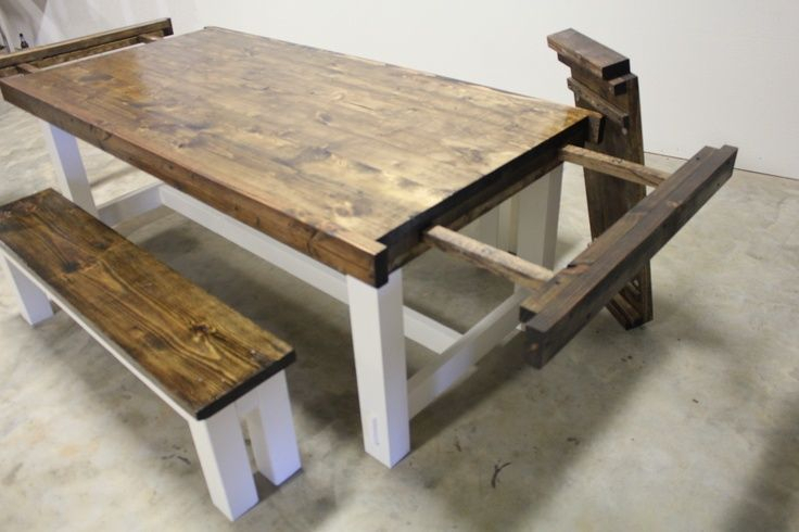 Well Liked How To Build Farmhouse Dining Table With Leaves – Google Inside Wood Kitchen Dining Tables With Removable Center Leaf (View 5 of 20)