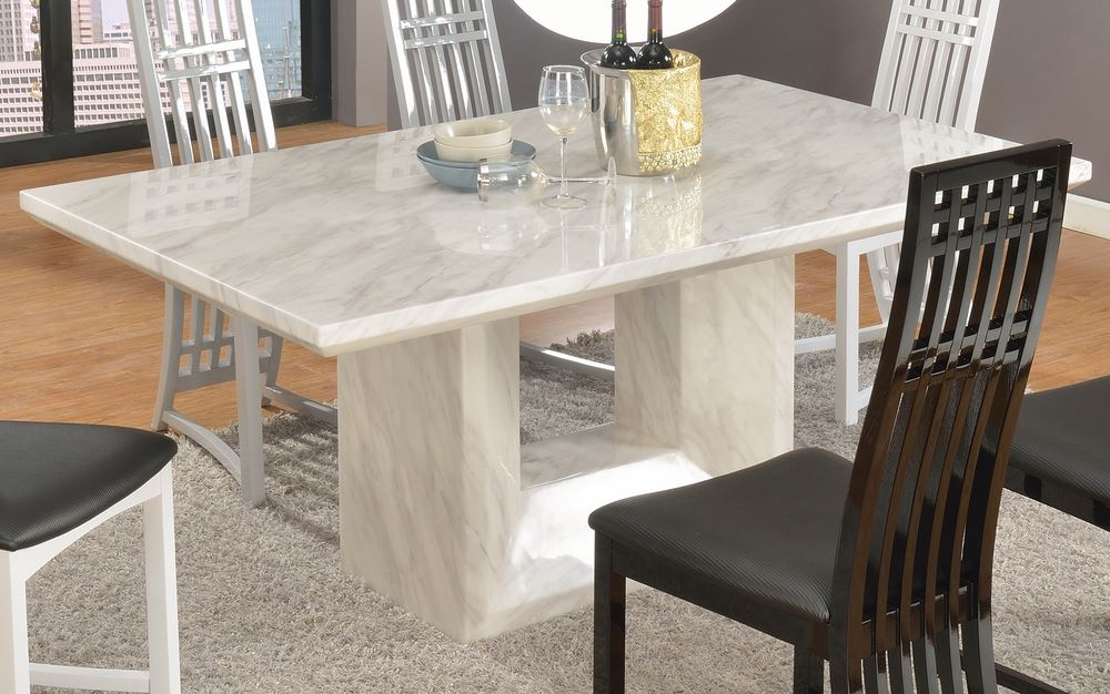 Well Liked Marble Top Dining Table White : Gearon Hoffman Home – Very Intended For Dining Tables With White Marble Top (#20 of 20)