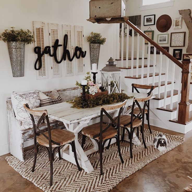 Well Liked Small Rustic Look Dining Tables Inside To Create The Rustic Look Of The Farmhouse Dining Room, It (View 3 of 20)