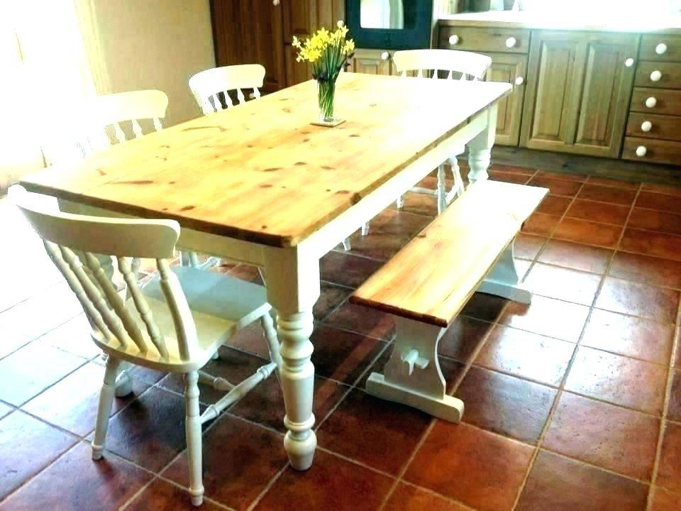 White Farmhouse Style Dining Table Bench Sets Splendid In Trendy Small Rustic Look Dining Tables (View 20 of 20)