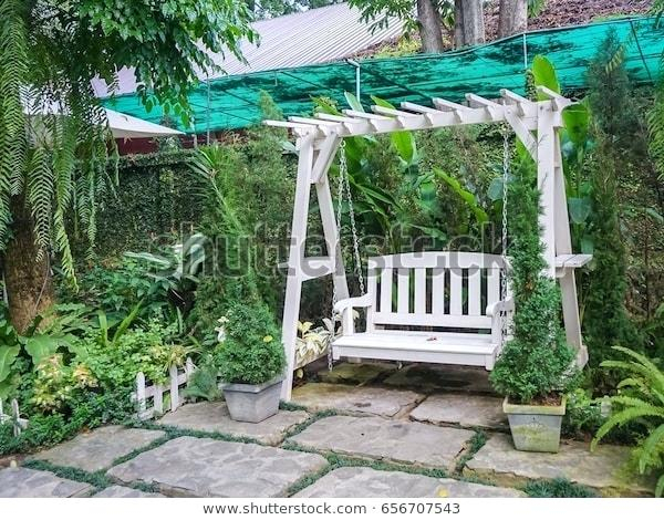 White Wooden Porch Swing S Wood Swings On 4 Foot Cottage For Casualthames White Wood Porch Swings (View 9 of 20)